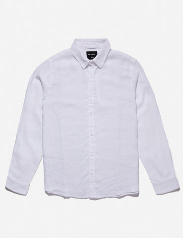 MR SIMPLE Linen Long Sleeve Shirt white