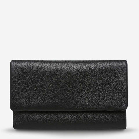 STATUS ANXIETY Audrey Wallet black pebble