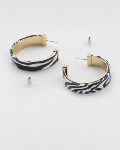 PETER LANG Estelle Earring zebra