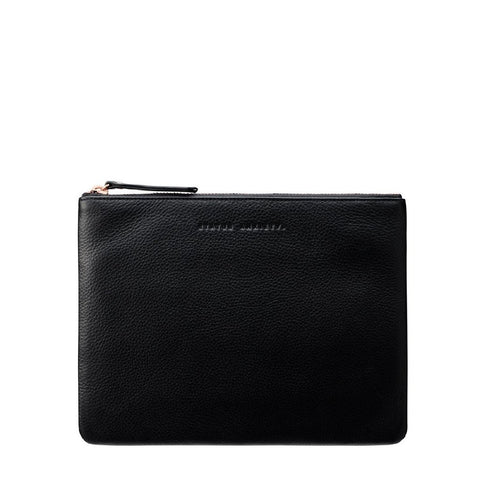 STATUS ANXIETY Fake It Clutch black