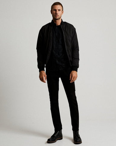 MR SIMPLE Technical Bomber Jacket black