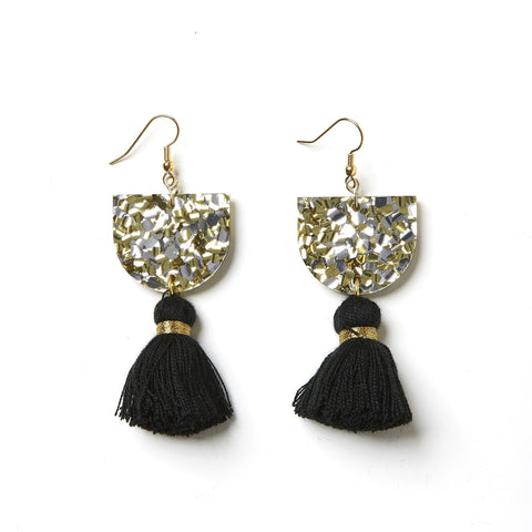 EMELDO DESIGN Annie Earring gold silver with black
