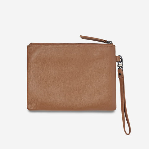 STATUS ANXIETY Fixation Clutch tan