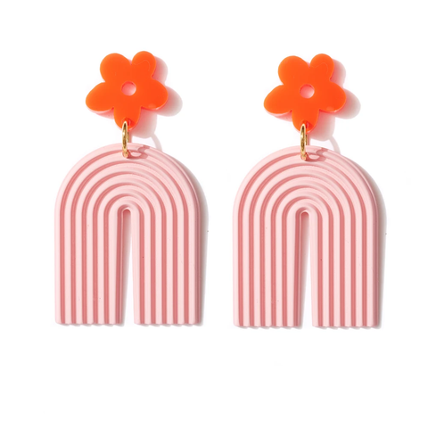 EMELDO DESIGN Ab-fab Rainbow Earring pink/neon red