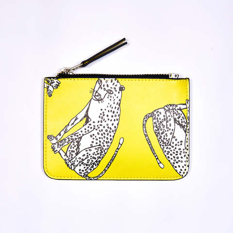 DAY FIVE STUDIOS Vegan Leather Coin Clutch cheetah
