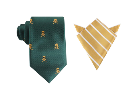 OTAA Skull & Crossbones Green Tie Set