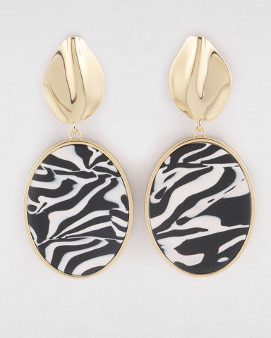 PETER LANG Akira Earrings zebra