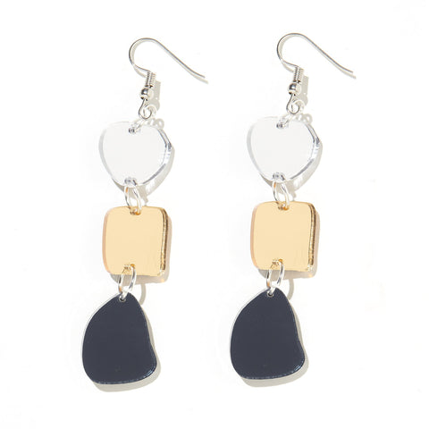 EMELDO DESIGN Vera Earring gold silver charcoal mirror