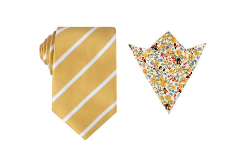 OTAA Gold Stripe Tie Set