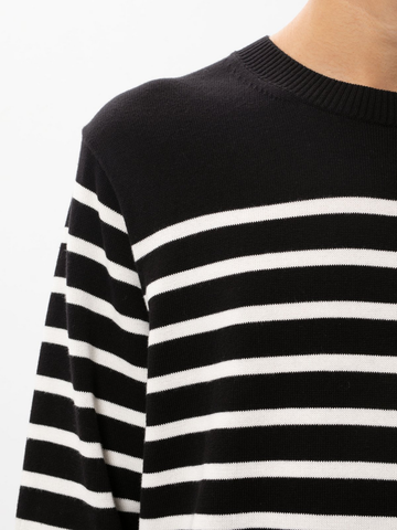 NUDIE JEANS Hampus Striped Sweater black/white