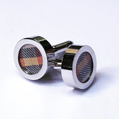 ST DAVID STUDIO Cufflinks tartan
