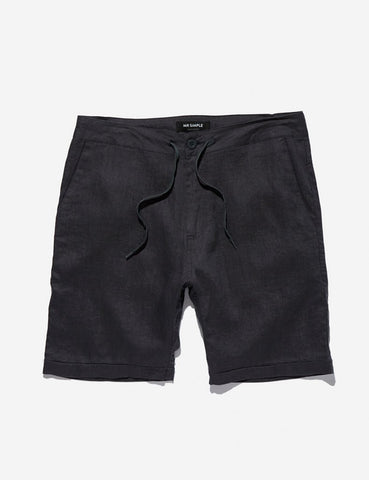 MR SIMPLE Tanner Linen Short black