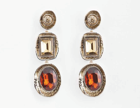 PETER LANG Eve' Earrings gold silk amber
