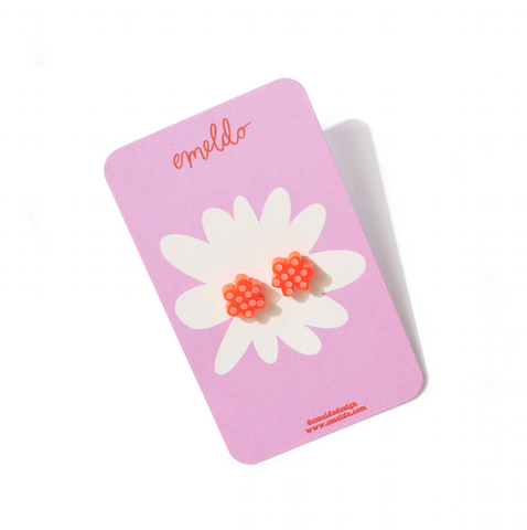 EMELDO DESIGN Flower Studs neon red