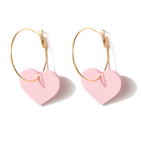 EMELDO DESIGN Valentine Hoops strawberry pink