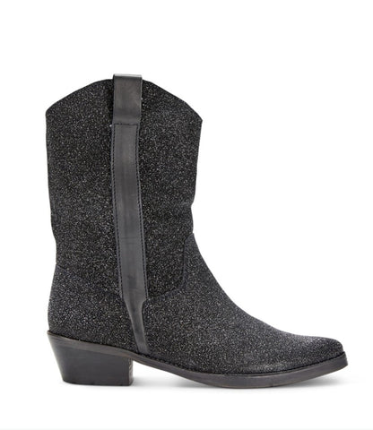 IVYLEE COPENHAGEN Tracy Cowboy Boot moonlight black heavy glitter