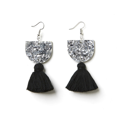 EMELDO DESIGN Annie Earring silver with black