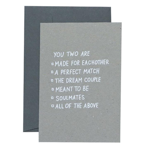 ME & AMBER Multiple Choice Couple Card