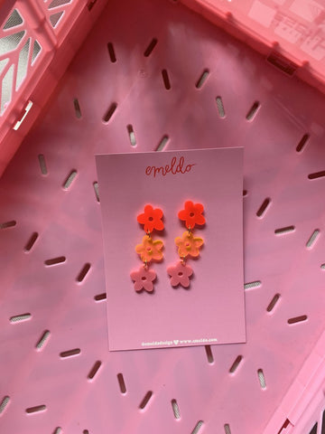 EMELDO DESIGN Sunday Bunch neon red with orange and pink