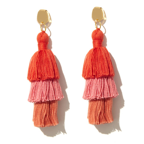 EMELDO DESIGN Tutum Earrings living coral