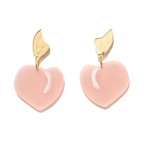 EMELDO DESIGN Peach Earrings pink + gold