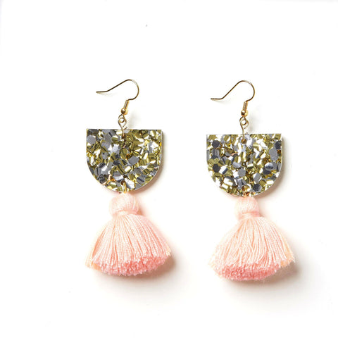 EMELDO DESIGN Annie Earring gold silver with peach