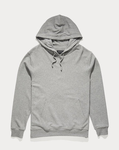 MR SIMPLE Fair Trade Pop Over Hood grey marle