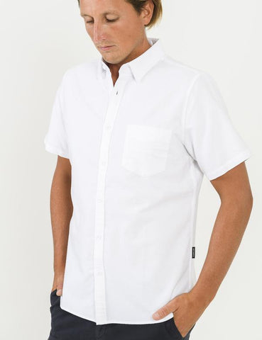 MR SIMPLE Oxford SS Shirt white