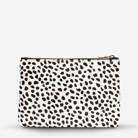 STATUS ANXIETY Maud wallet snow cheetah