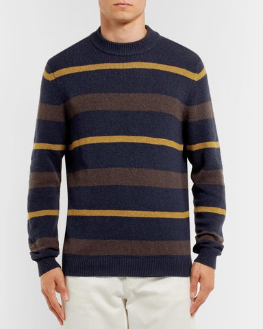 NN07 Martin Stripe Wool Knit navy