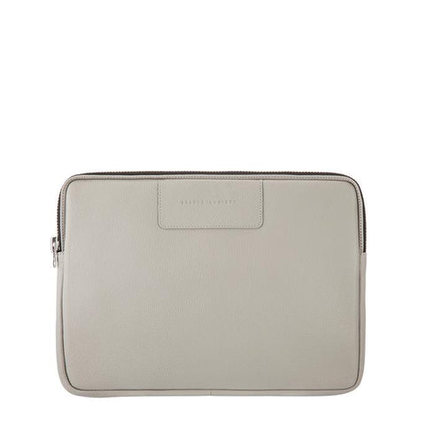 STATUS ANXIETY Before I Leave Laptop Case Light Grey