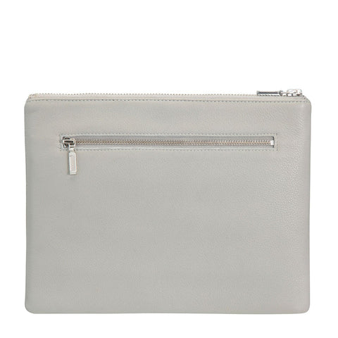 STATUS ANXIETY Antiheroine Clutch light grey