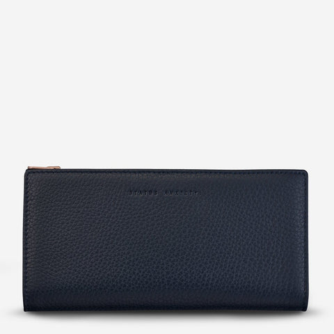 STATUS ANXIETY In The Beginning Wallet navy blue