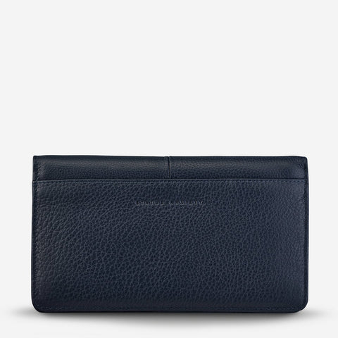 STATUS ANXIETY Triple Threat wallet navy blue