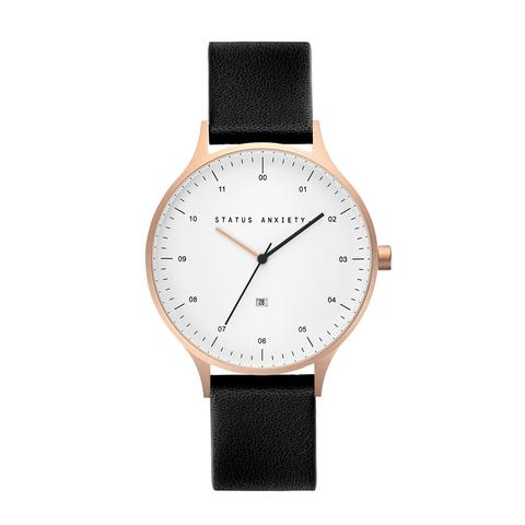STATUS ANXIETY Inertia Watch brushed copper white black