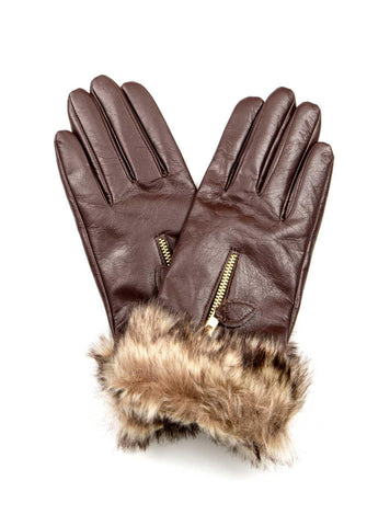 HIDE Leather Glove 1901 chocolate