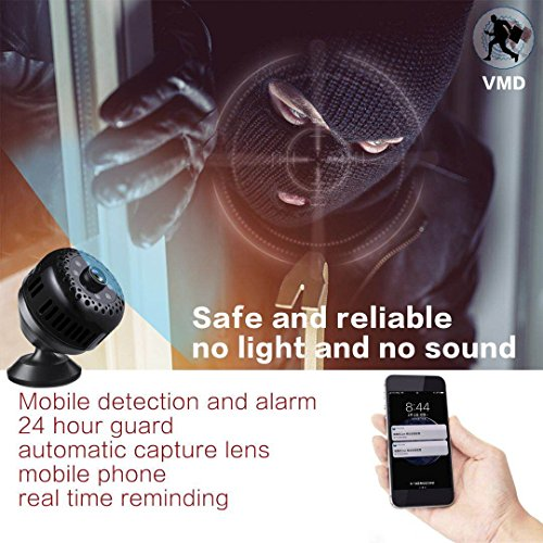 1080P  WIFI Hidden Camera Spy Camera With Night Vision and Motion Detection - PANNOVO