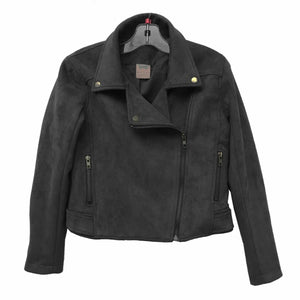 FOR ALL SEASONS Girls Faux Suede Moto Jacket