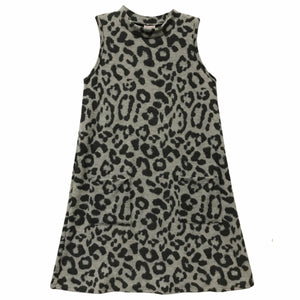 FOR ALL SEASONS Girls Sleeveless Leopard Print Dress