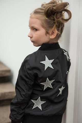 SPARKLE BY STOOPHER Girls Star Bomber Jacket