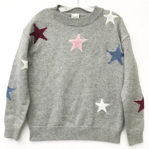 FOR ALL SEASONS Girls Star Print Sweater
