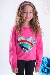 SPARKLE BY STOOPHER Sequin Heart Sweatshirt