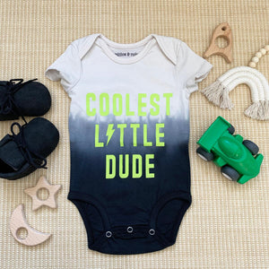 Rainbow & Rocket - Coolest Dude Dip Dye Onesie