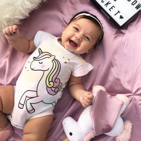 Rainbow & Rocket - Unicorn Tie Dye Onesie