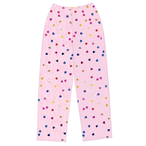 Iscream - Colorful Foil Hearts Plush Pants