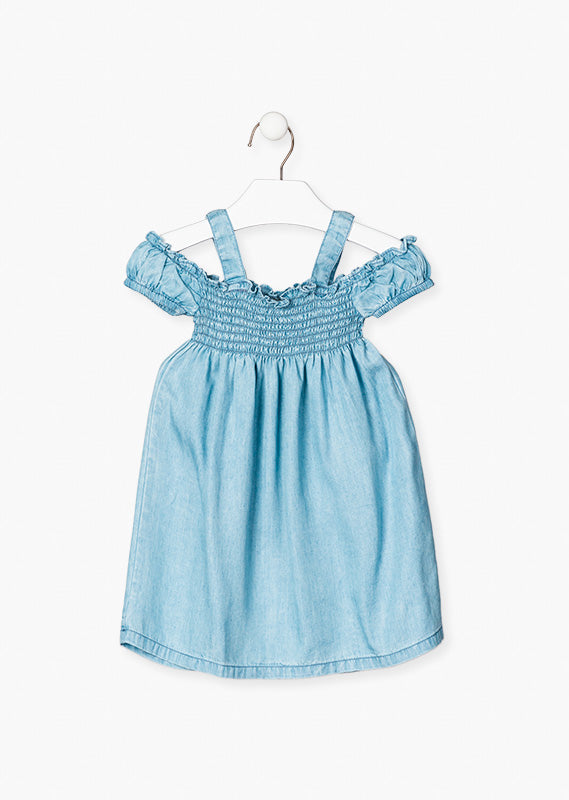 LOSAN Chambray Dress