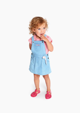 LOSAN Pinafore Dress