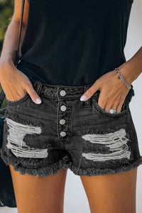 Junior Mid-rise Distressed Denim Shorts