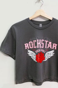 Sweet Claire - Rock Star Graphic Cropped Tee