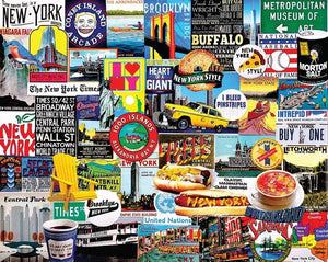 White Mountain Puzzle - 1000 Piece Jigsaw Puzzle, New York, New York